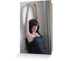 Black Corset 10 Greeting Card