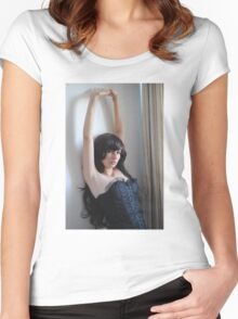 Black Corset 10 Women's Fitted Scoop T-Shirt