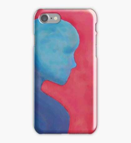 Silhouette in Primary Colors iPhone Case/Skin