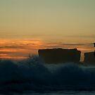 Wave Power,Sherbrooke Beach,Great Ocean Rd by Joe Mortelliti
