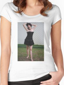 Black Corset 11 Women's Fitted Scoop T-Shirt