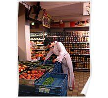Full colour Elvis in Supermarket Poster
