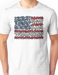 American Flag Mushrooms Unisex T-Shirt