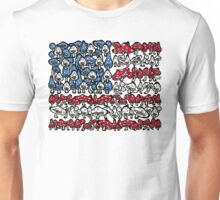 American Flag Mushrooms Unisex T-Shirt