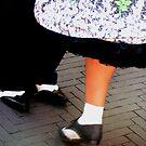 Two tone dancing shoes by patjila