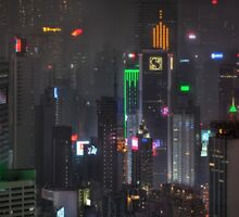asian skyscrapers by glowtokyo