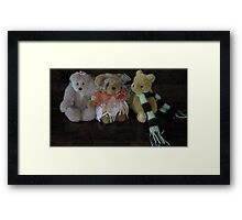 Three Little Teddies. Framed Print
