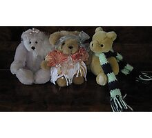 Three Little Teddies. Photographic Print