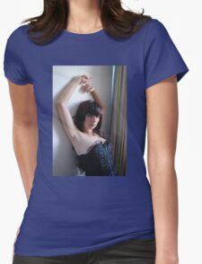 Black Corset 17 Womens Fitted T-Shirt