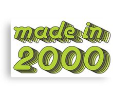 Made in 2000 (Green&Grey) Canvas Print