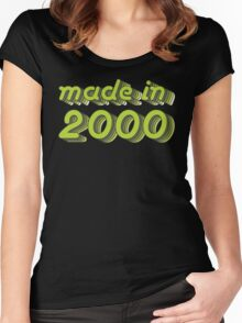 Made in 2000 (Green&Grey) Women's Fitted Scoop T-Shirt