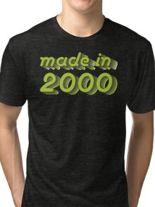 Made in 2000 (Green&Grey) Tri-blend T-Shirt