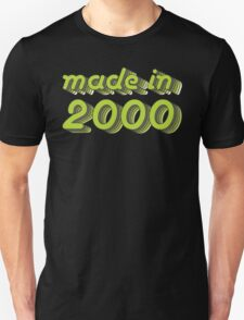 Made in 2000 (Green&Grey) Unisex T-Shirt