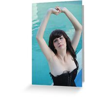 Black Corset 23 Greeting Card