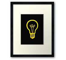 Attention Lightbulb Framed Print