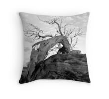 Dead outback tree Throw Pillow