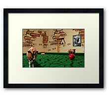 Cows rules! Framed Print