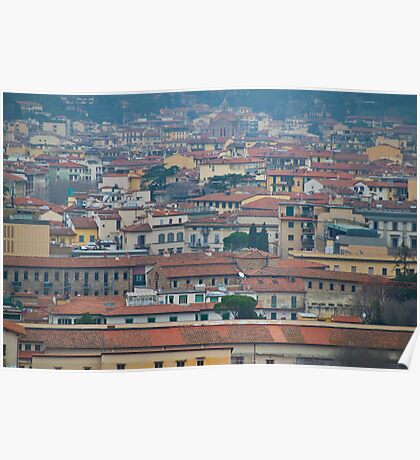 Rooftops, Florence Poster