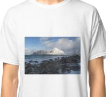 White, blue and grey Classic T-Shirt