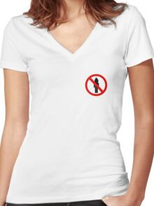 LA FLAME Women's Fitted V-Neck T-Shirt