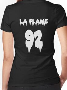 LA FLAMEEEE Women's Fitted V-Neck T-Shirt