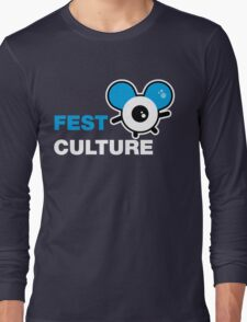 FestCulture Logo Original Blue - Dark Long Sleeve T-Shirt