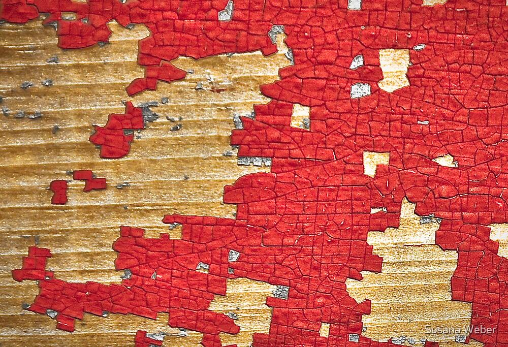 Mr. Puzzleman catching puzzle pieces. by Susana Weber