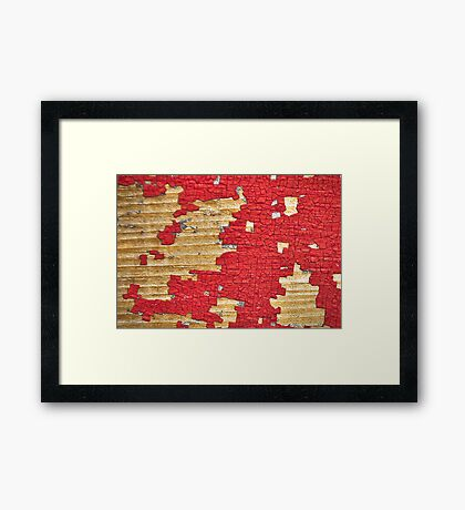 Mr. Puzzleman catching puzzle pieces. Framed Print