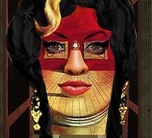 Amy Winehouse as Portrait of Mae West by Salvador Dalí by PrivateVices