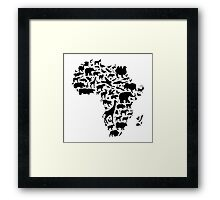 Animals of Africa Framed Print