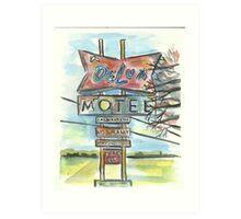 Delux Motel Art Print