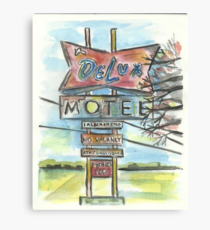 Delux Motel Canvas Print