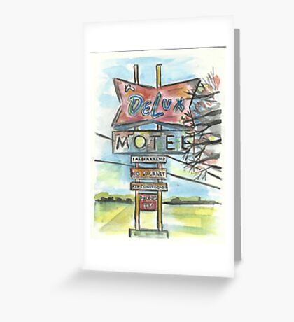 Delux Motel Greeting Card