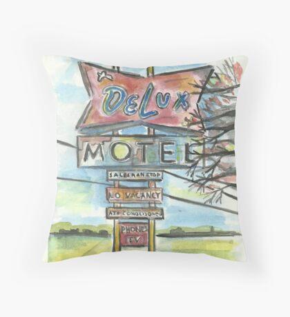 Delux Motel Throw Pillow