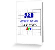 Link start Greeting Card
