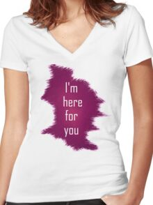 i'm here Women's Fitted V-Neck T-Shirt