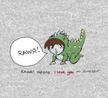RAWR! it means i love you in dinosaur Kids Clothes