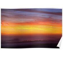 Hurricane Ida Sunset Poster