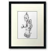 Steam Powered Robot Framed Print
