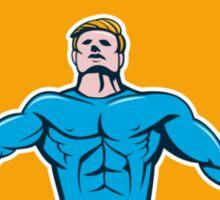 Superhero Handyman Spanner Wrench Circle Cartoon Sticker