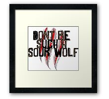 Don't be such a sour wolf Framed Print