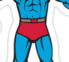 Superhero Handyman Spanner Wrench Cartoon Sticker