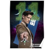 11th Doctor Greeting Card Poster