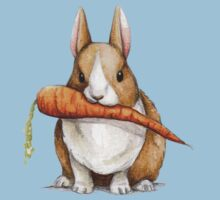 Bunny Eating a Carrot Baby Tee