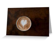 coffee heart Greeting Card