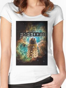 I want...freedom [Nebulosa] Women's Fitted Scoop T-Shirt