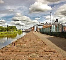 Riverside Walk with Clouds in Gainsborough by Jason M Rogers