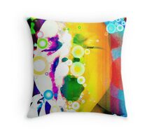 The Yawn of a Babe.  Throw Pillow