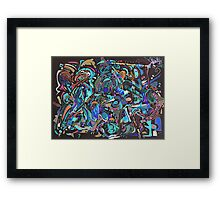 Shovelling the funk - REVERSI Framed Print