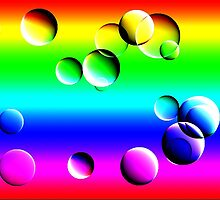 Rainbow bubbles by Steve plowman